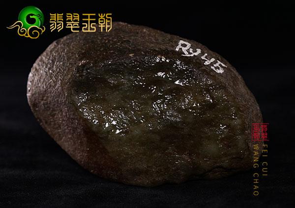 缅甸翡翠赌石:大马砍场口原石红皮水石色料打灯黄色有雾