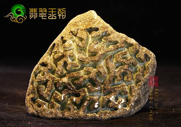 原石场口:缅甸后江场口原石色料皮壳打灯现晴底色有种水