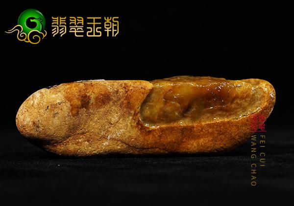 原石场口:缅甸大马砍场口黄翡原石料子皮壳打灯通透有种