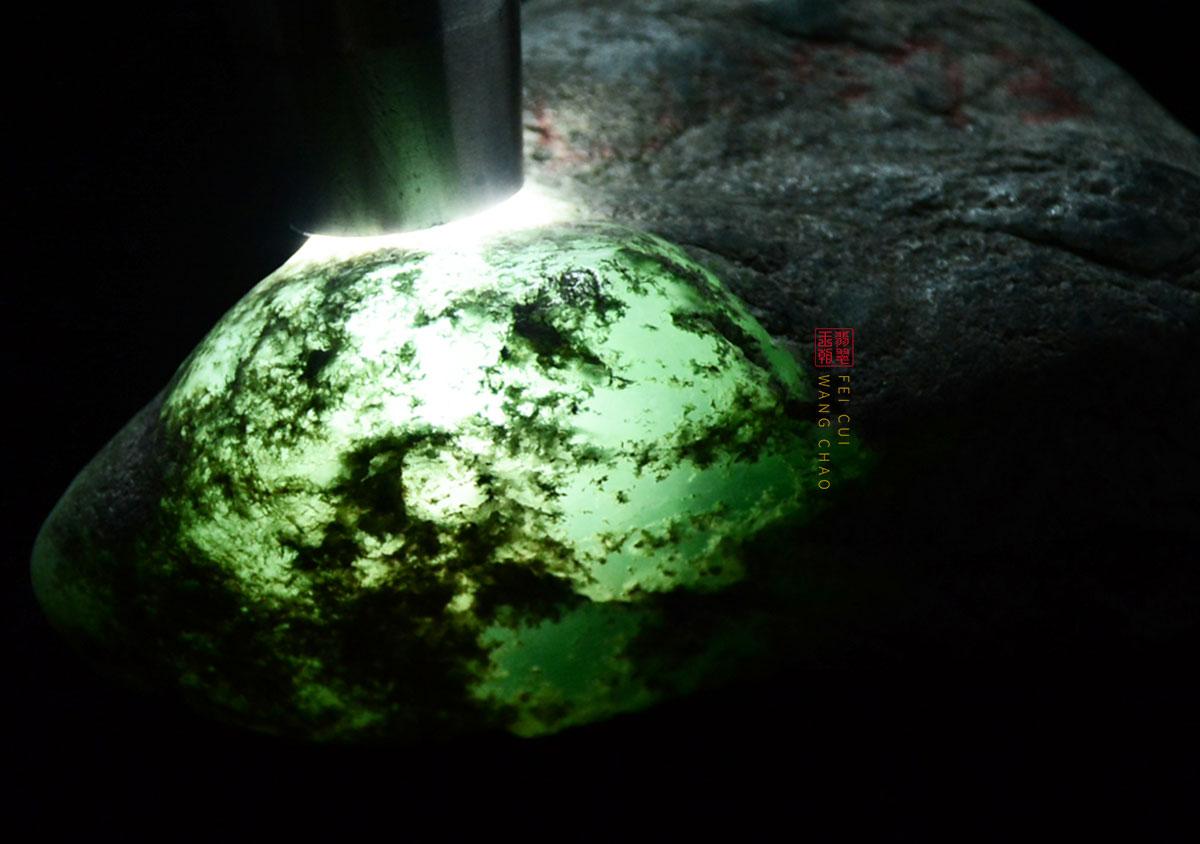 翡翠原石场口:缅甸木那白岩沙翡翠原石常见的特征