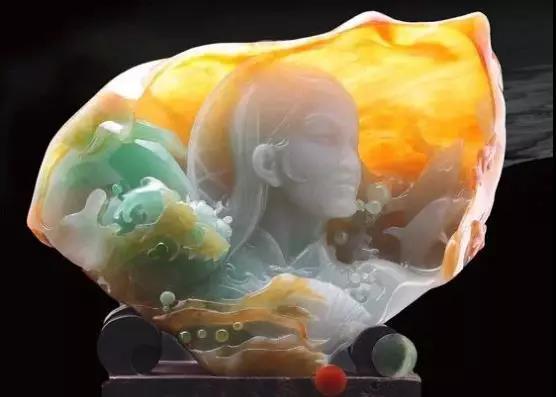 缅甸大马坎翡翠原石冰种黄翡料子价值