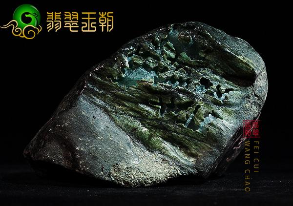 缅甸翡翠原石毛料各种蟒的皮壳特点表现