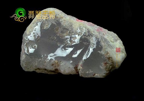 翡翠原石料子皮壳上的门子松花以及癣的特征真假鉴别!