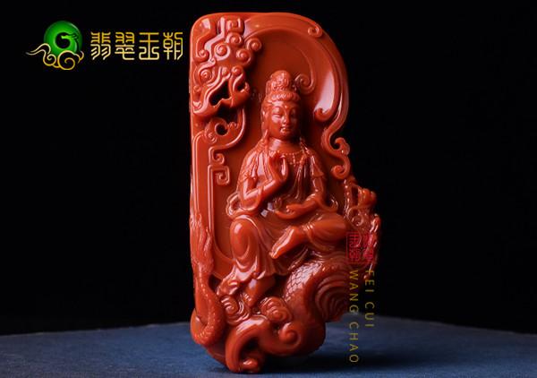 四川南红雕刻的观音挂件到底能有多美?看了你就知道了!