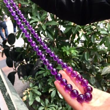 紫水晶项链功效能改变磁场,紫水晶方法寓意紫气东来