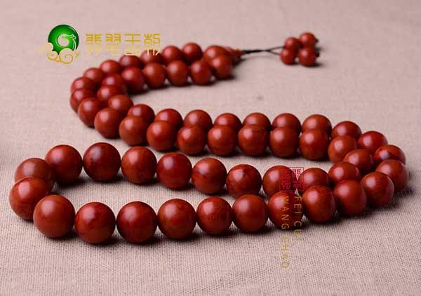 南红柿子红佛珠手串怎么盘玩包浆?