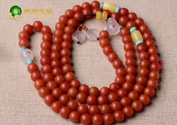 南红佛珠不同颗数的含义,南红圆珠市场价格