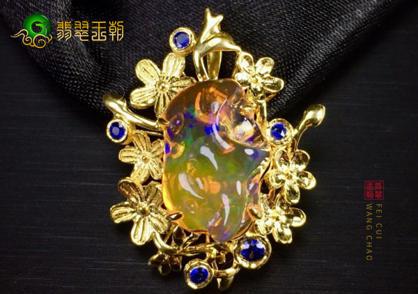 天然欧泊石被称作世界第六大宝石可不是浪得虚名,欧泊石了解下?