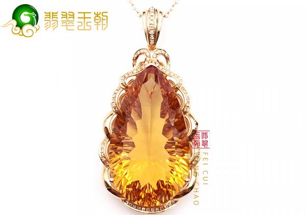 天然黄水晶饰品选购技巧,看这两个方面!