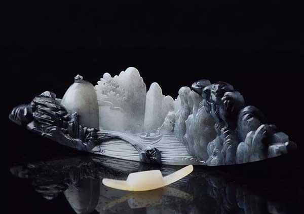 和田玉青花料为什么受文人喜爱?青花料意境山水自然成趣