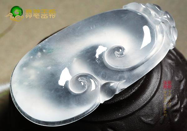 a货冰种翡翠挂件石棉和色根的鉴别技巧非常实用
