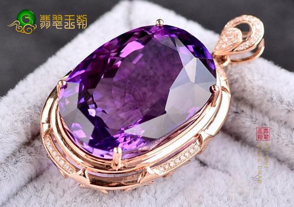 紫水晶吊坠镶嵌链变黑处理3点小技巧,水晶镶嵌金属变黑原因