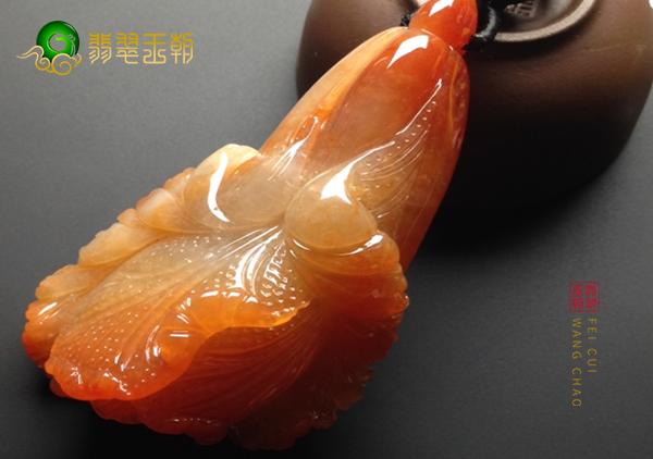 糯冰种红黄翡玉雕白菜挂件不同类型适合什么人