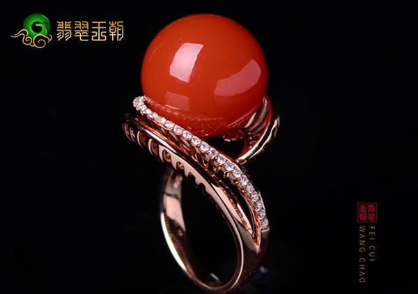 南红蛋面戒面戒指挑选技巧,从大小形状颜色上轻松选择