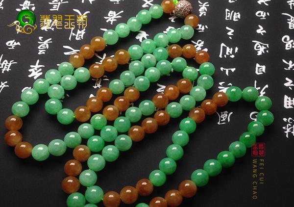 双彩翡翠珠链不同颜色组合寓意以及不同颗数佩戴含义