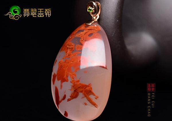 冰飘南红首饰成品三方等级分化,南红冰飘收藏价值