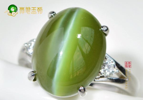 天然猫眼石手链戒指与人造玻璃猫眼挑选鉴别方法