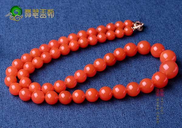 凉山南红联合料价值体现,优质樱桃红南红珠串挑选