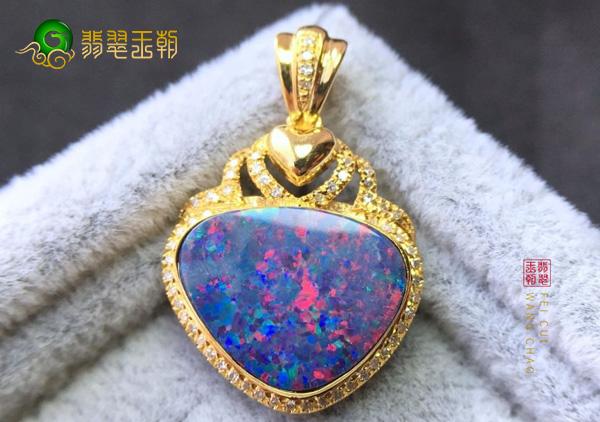 欧泊石项链戒指吊坠不同种类的色彩特征体现