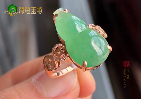 冰种晴水翡翠葫芦戒指日常保养小妙招购买必看