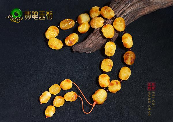 蜜蜡珠串手串造假手段,蜜蜡烤色爆花染色优化处理