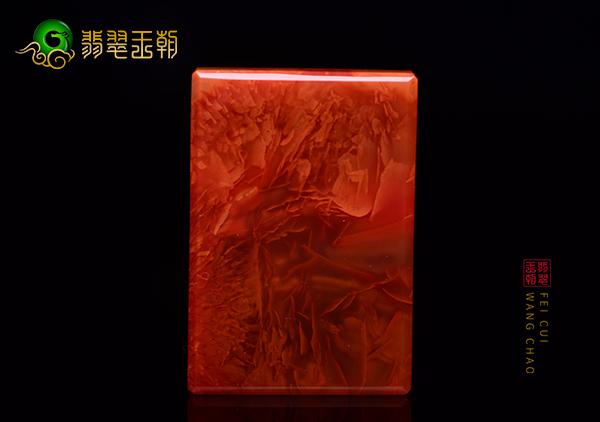 南红火焰红无事牌挂件为何多素颜现身从不见雕件