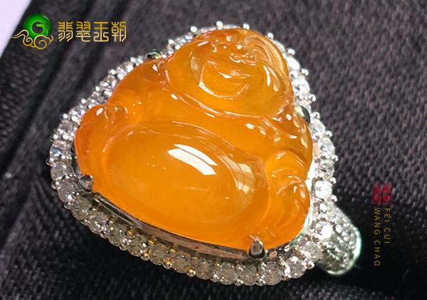 冰种黄翡镶嵌戒指上蜡到底是优化效果还是造假