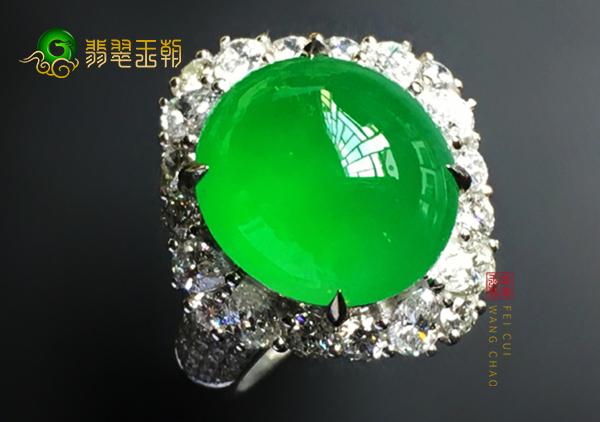 满绿翡翠戒指不同种类等级可划分为三大等级