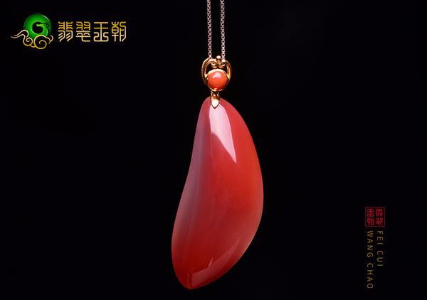 南红挂件器件佩戴收藏价值鉴赏,南红荔枝冻