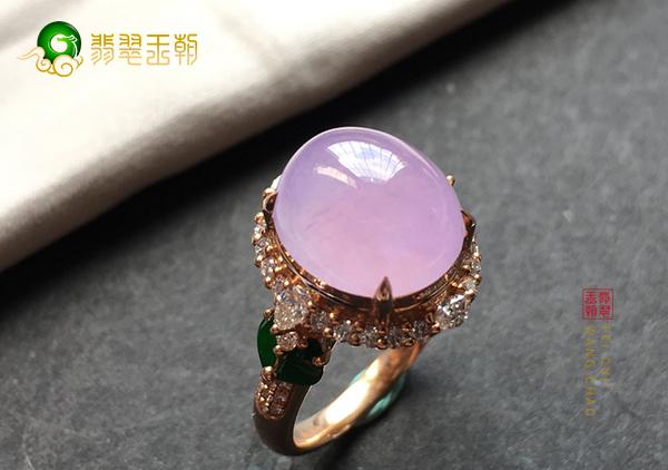 冰种紫罗兰翡翠戒指不同等级的价格有什么差异