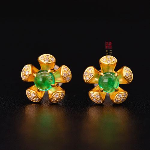 祖母绿耳环耳饰一克拉多少钱,透明度净度影响其价格