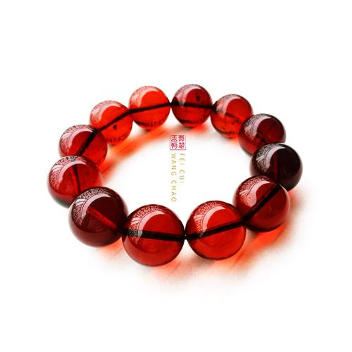 血珀珠串手链判断是否是染色或塑料仿制的鉴别方法
