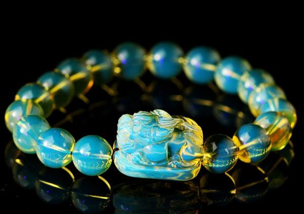每种琥珀貔貅手链都有不同的含义你戴对了吗