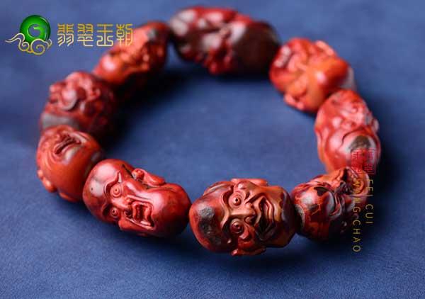南红柿子红包浆罗汉头手串佩戴的五大禁忌