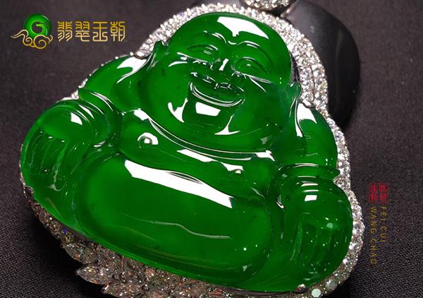 冰种浓绿翡翠玉佛挂件购买挑选要注意品相特点
