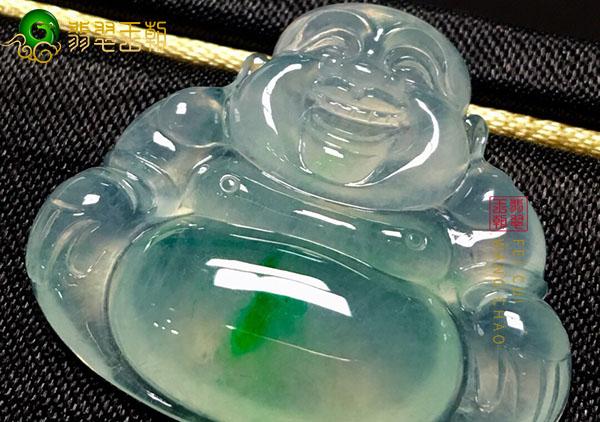 冰种弥勒佛翡翠挂件根据品相怎么挑选购买?