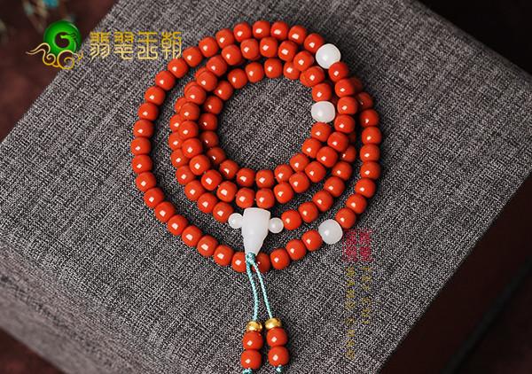 柿子红南红手工珠子与机工珠子的四个区别