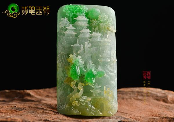 糯冰种黄加绿翡翠玉雕挂件超实用的三点挑选技巧