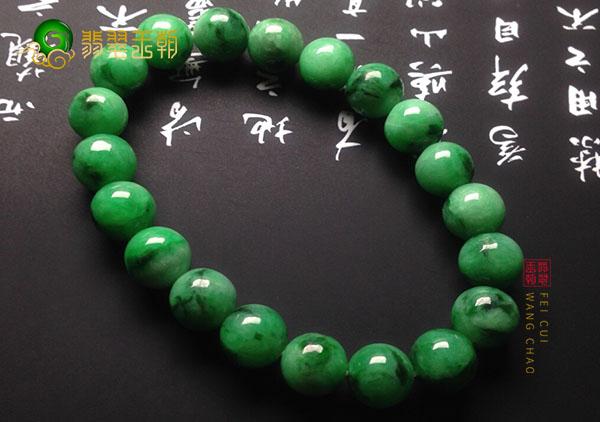 糯冰种浓绿翡翠手串珠子为啥一定要是十八颗