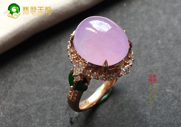 冰种紫罗兰翡翠戒面挑选一定不能忽略的细节