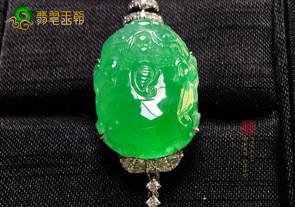 糯冰种苹果绿貔貅翡翠挂件佩戴寓意注意事项