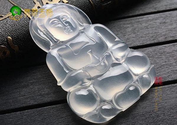 冰种无色翡翠玉观音翡翠挂件的挑选以及保养
