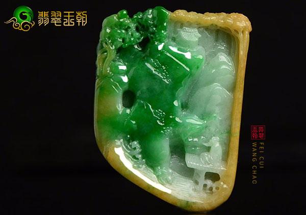 糯冰种黄加绿翡翠挂件价值如何该怎么挑选?