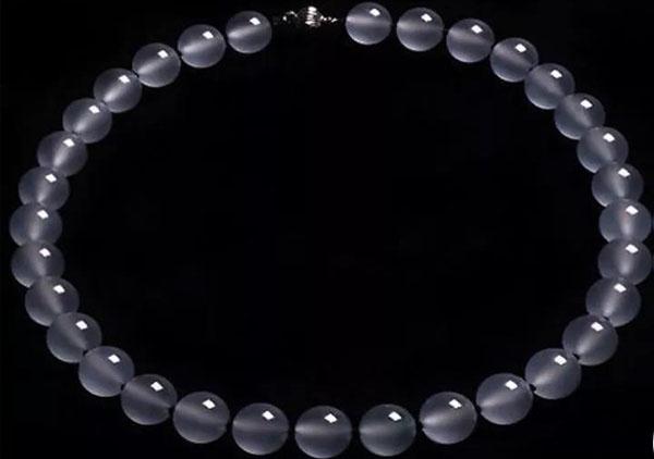 玻璃种无色翡翠珠链作为佛珠虔诚相待的功效
