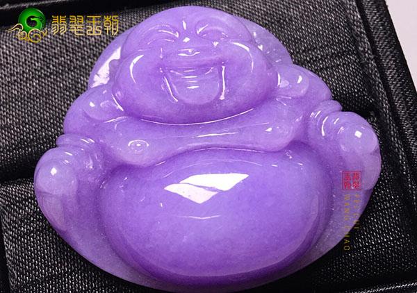 糯冰种紫罗兰玉佛翡翠挂件封蜡到底好不好?