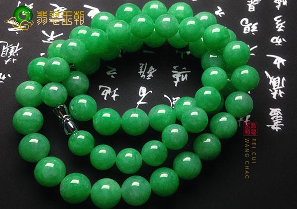 糯种满绿翡翠珠链手串价值以及挑选注意事项