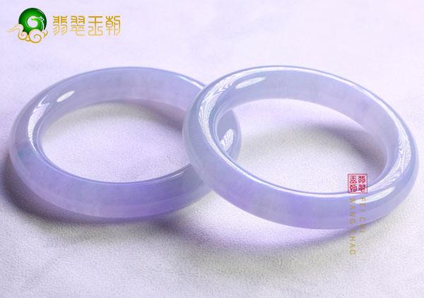 【紫罗兰翡翠玉镯】紫色翡翠手镯颜色变丑原因