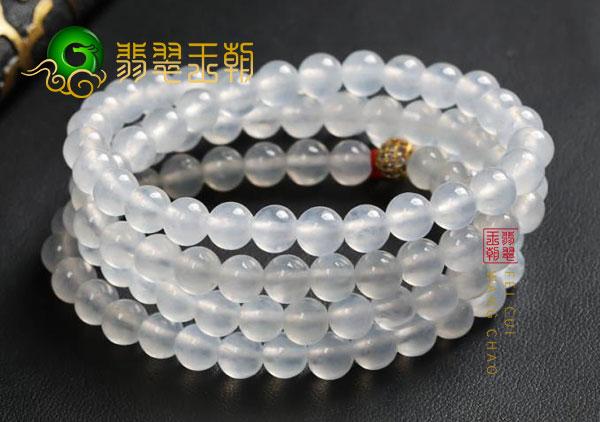 冰种无色翡翠珠串项链市场上一般价位是多少