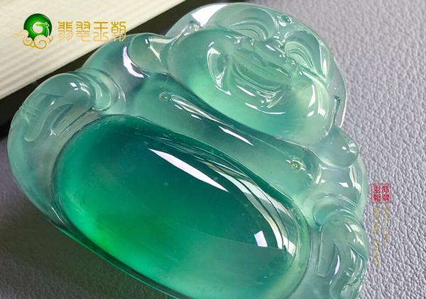 冰种绿晴水一级翡翠玉佛挂件如何识别翡翠优劣