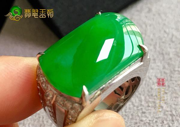 冰种阳绿翡翠马鞍戒指的各种不同款式形状特点